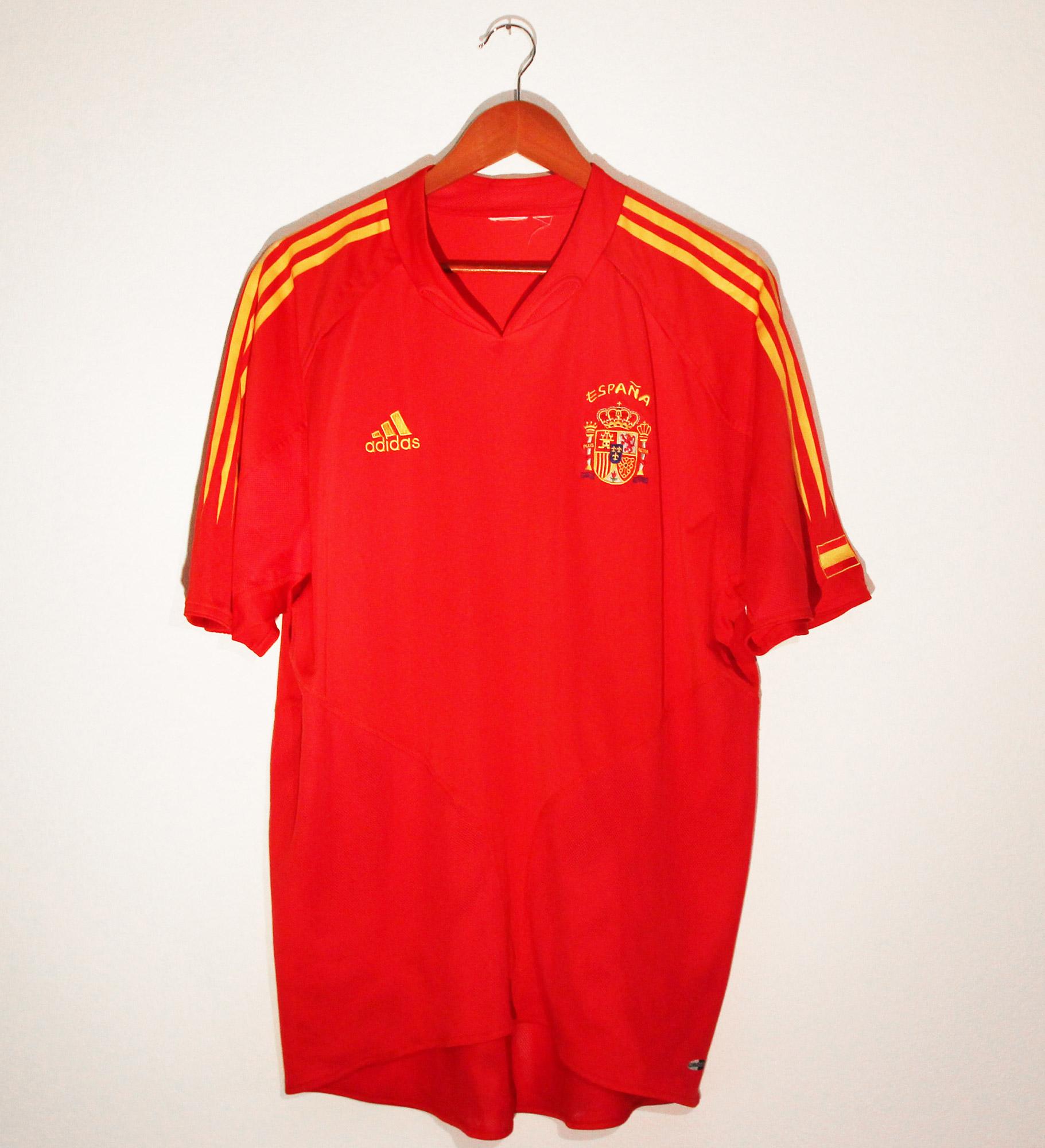 maillot espana rouge 2004