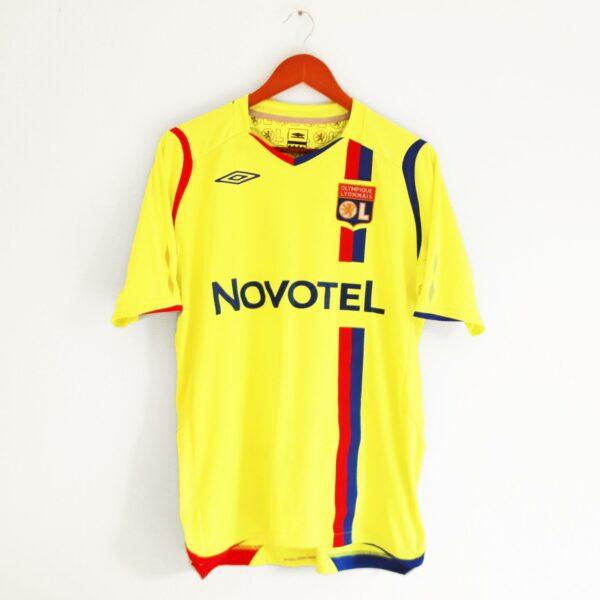 maillot lyon europe juninho jaune fluo